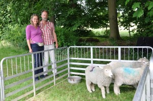 Graham and Vikki : We didn't get the names of the sheep!